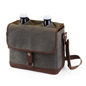 Picnic Time Double Growler Insulated Tote, Khaki Green:Brown review